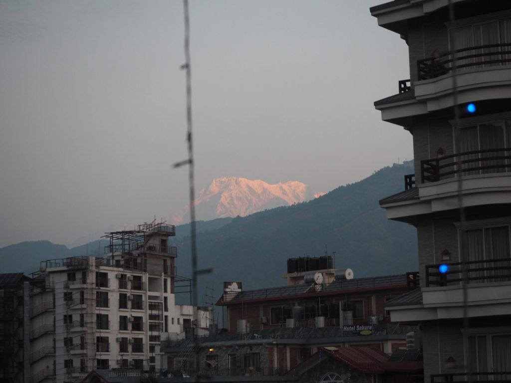 Pokhara mountains view