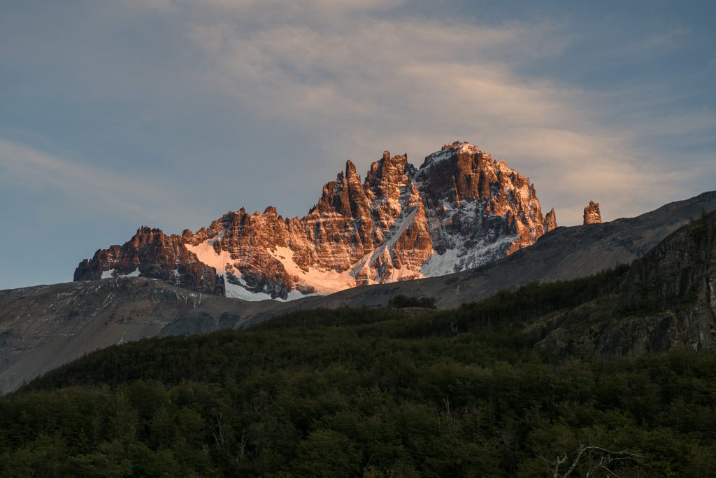 Chile Patagonia Cerro Castillo sunrise