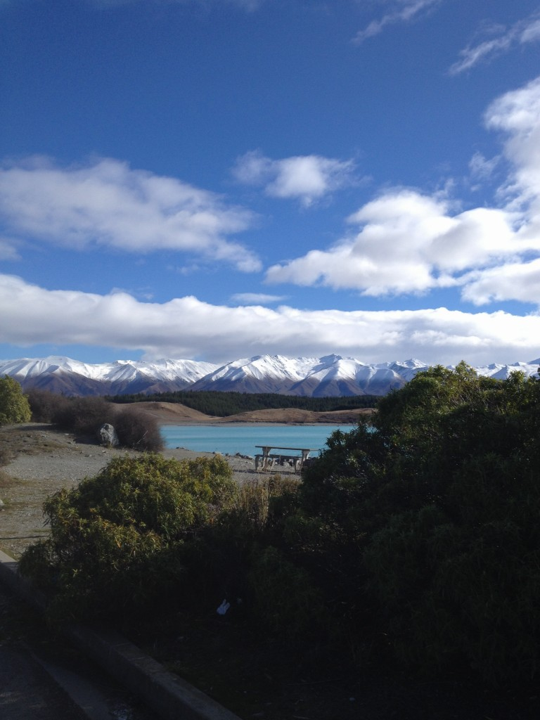 View across Lake Pukaki towards Aoraki/ Mount Cook