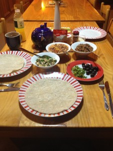 Oamaru tortilla dinner