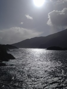 Doubtful Sound sun
