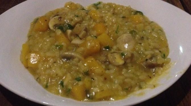 Aliciouslyvegan: Pumpkin mushroom risotto