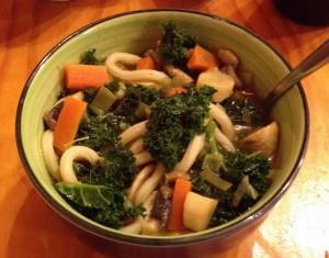 Veg udon soup