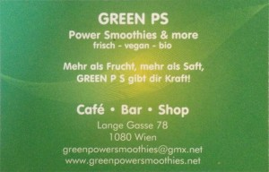 Green PS business card