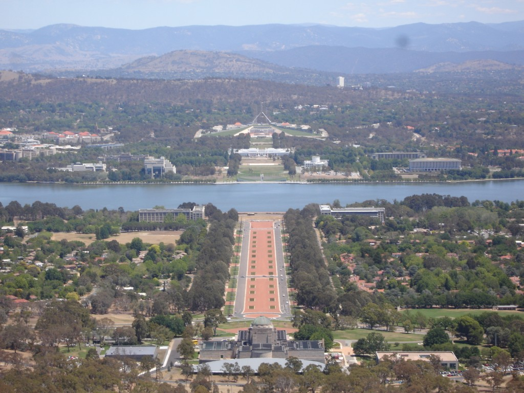 View from Mt Ainslie, Canberra (Australia)