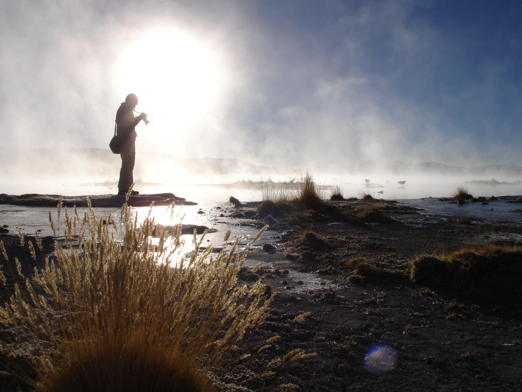 Morning mist at one of the hot springs near Salar de Uyuni (One of my all-time favourite photos that I took).