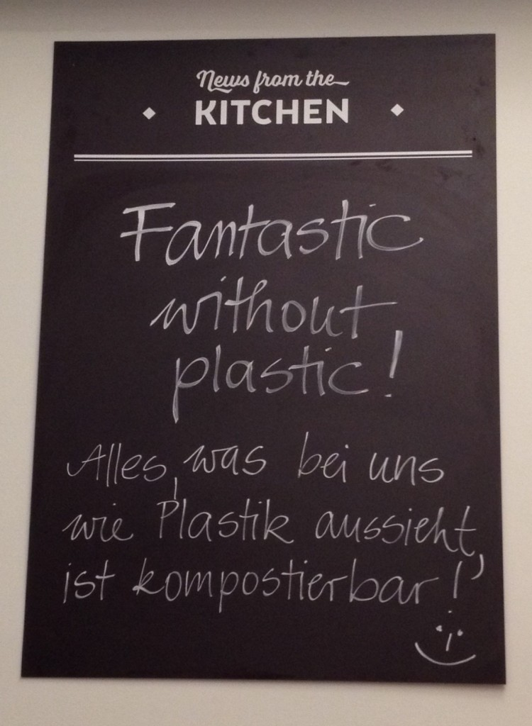 Swing Kitchen - everything that looks like plastic is compostable