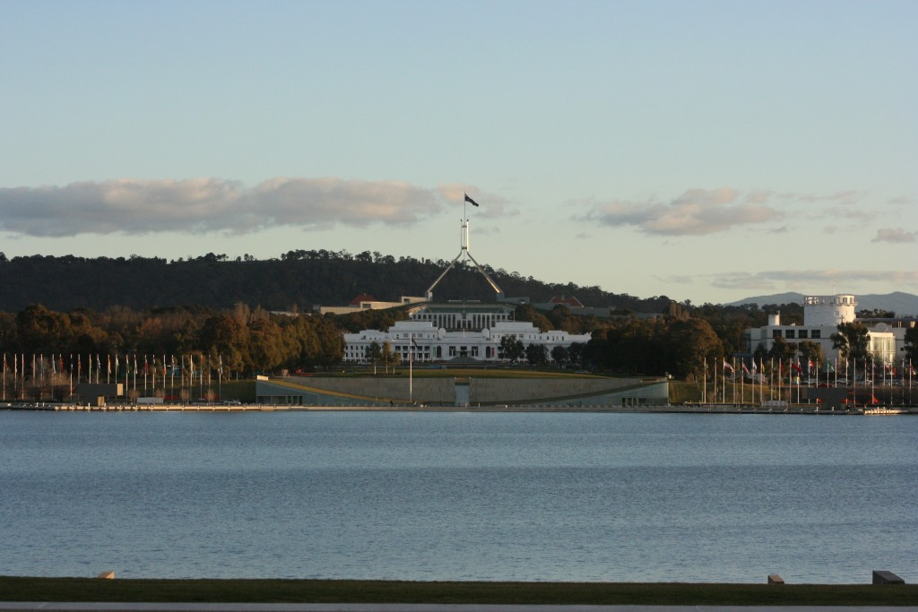 Canberra - Parliament Houses (Old in front of New)