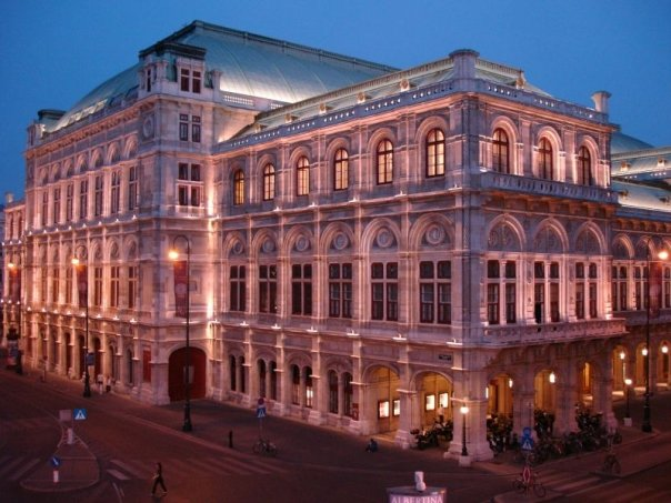 Wien - Opera house from the Albertina