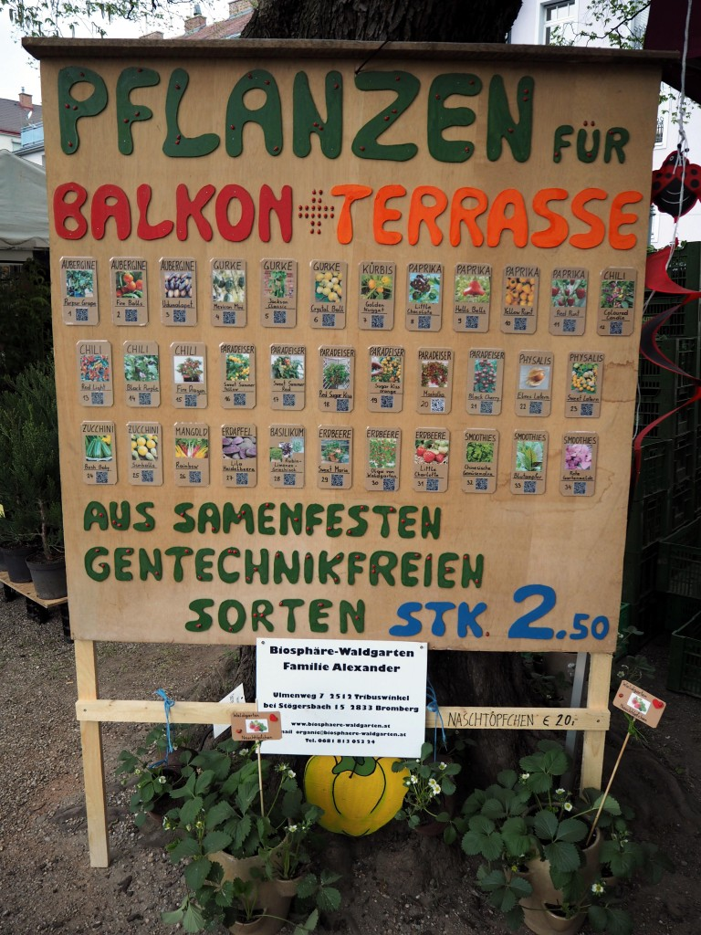 A stall dedicated solely to edible balcony plants!