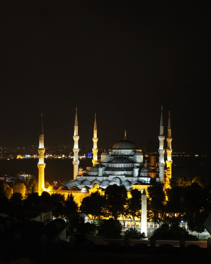 Blue Mosque rooftop restaurant Istanbul