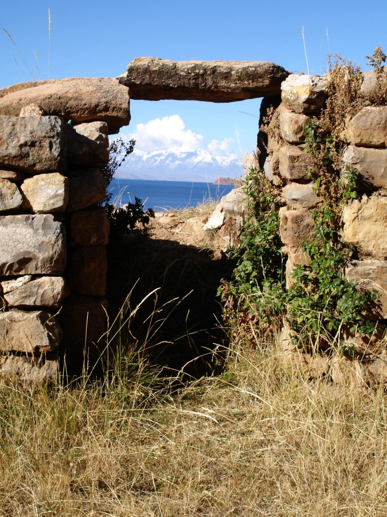 View from Isla del Sol across Lake Titicaca