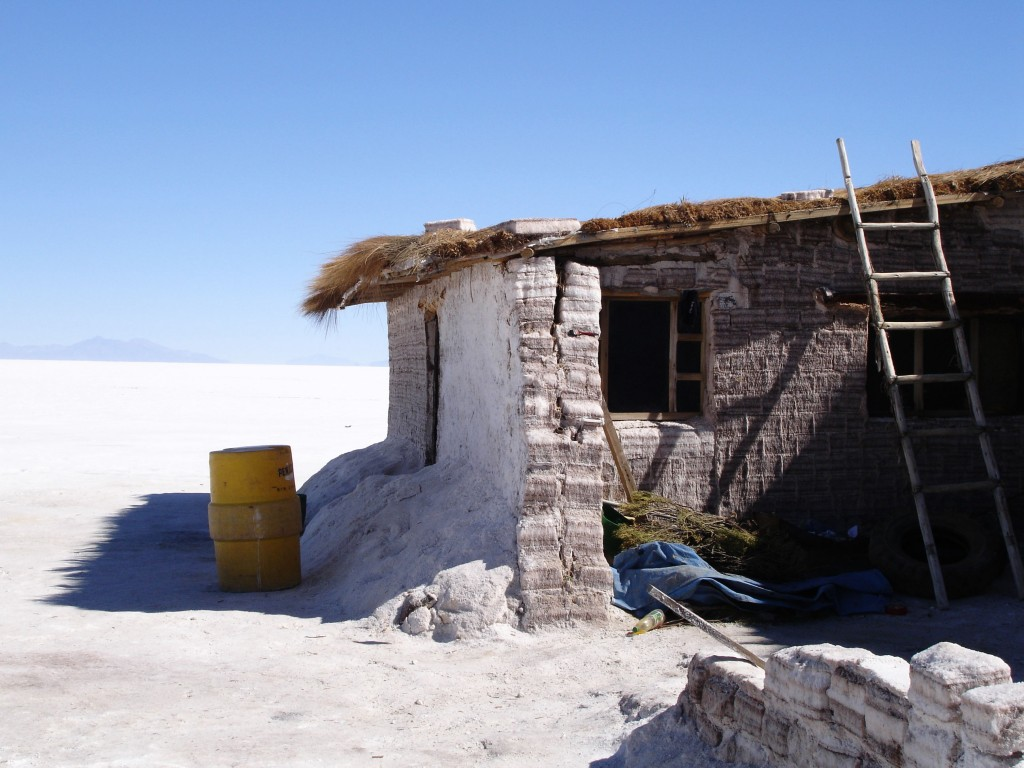 Building on the Salar de Uyuní