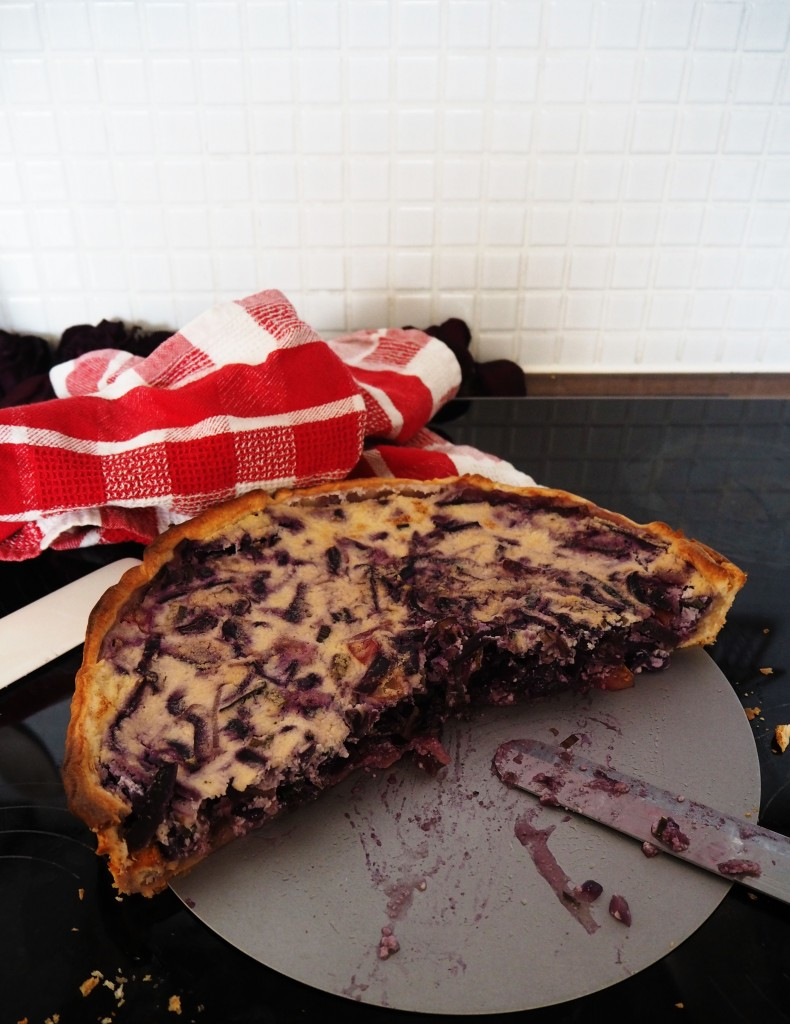 Kochabo - red cabbage quiche