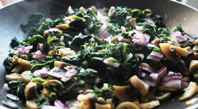 Aliciouslyvegan: Mushroom spinach parcels