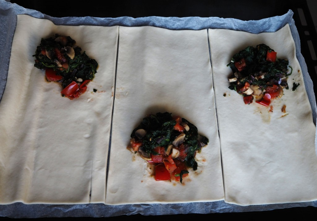 Mushroom spinach parcels