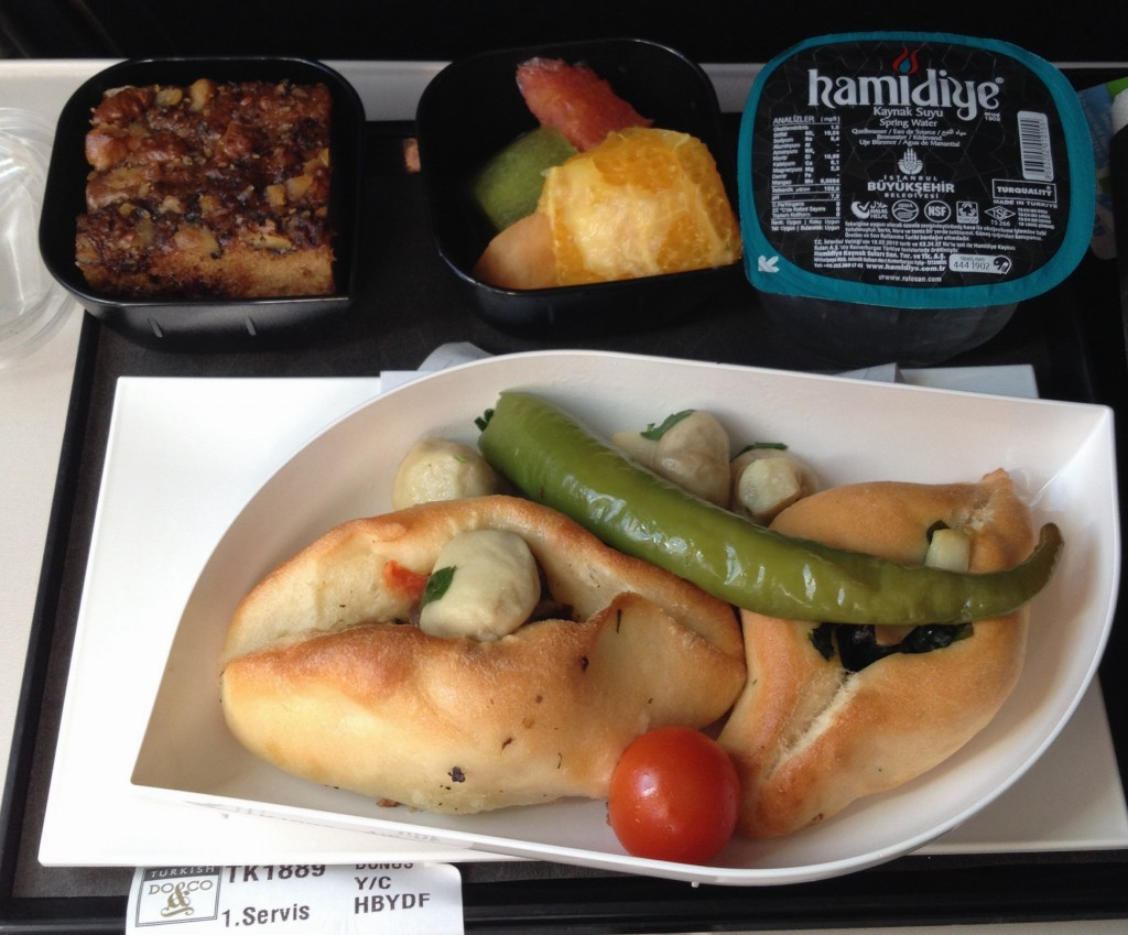 Turkish Airlines - vegan food