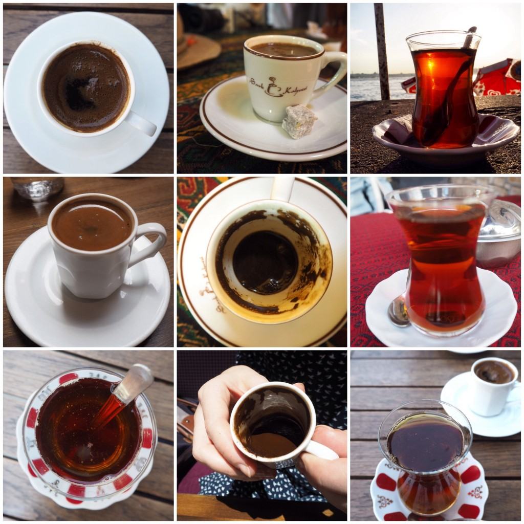 Turkish tea cay coffee