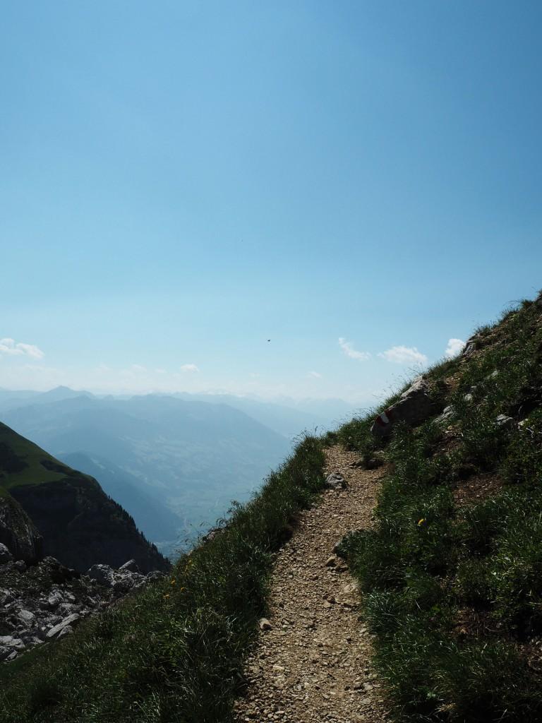 Approaching Haidachstellwand