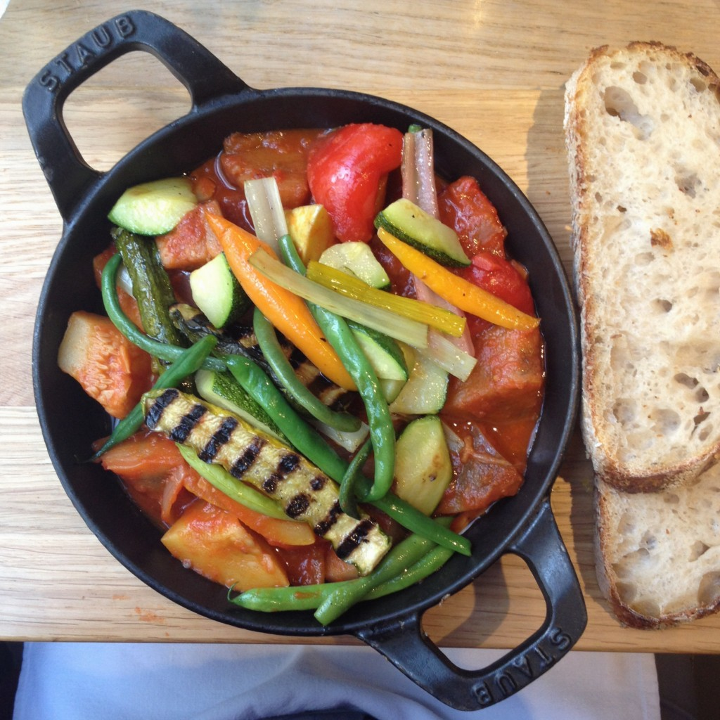 Flavourful ratatouille at Ströck Feierabend