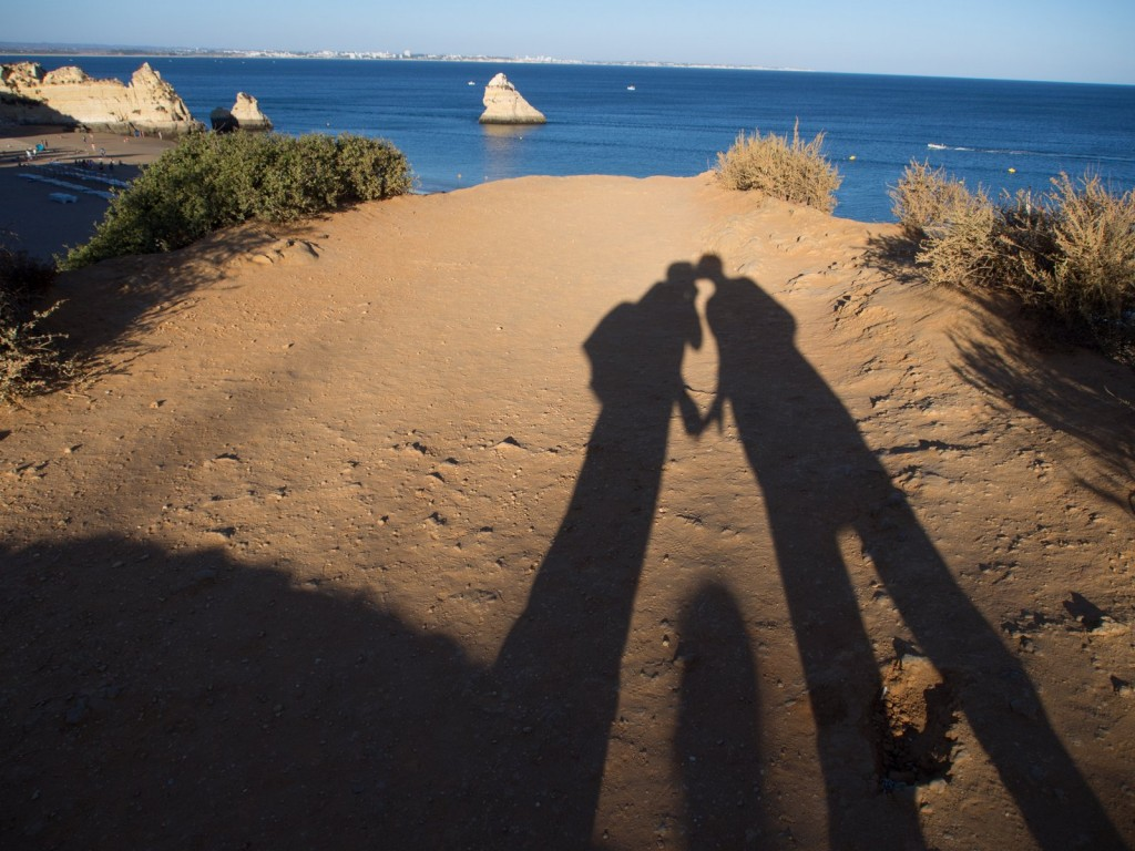 Portugal Lagos kissing shadow