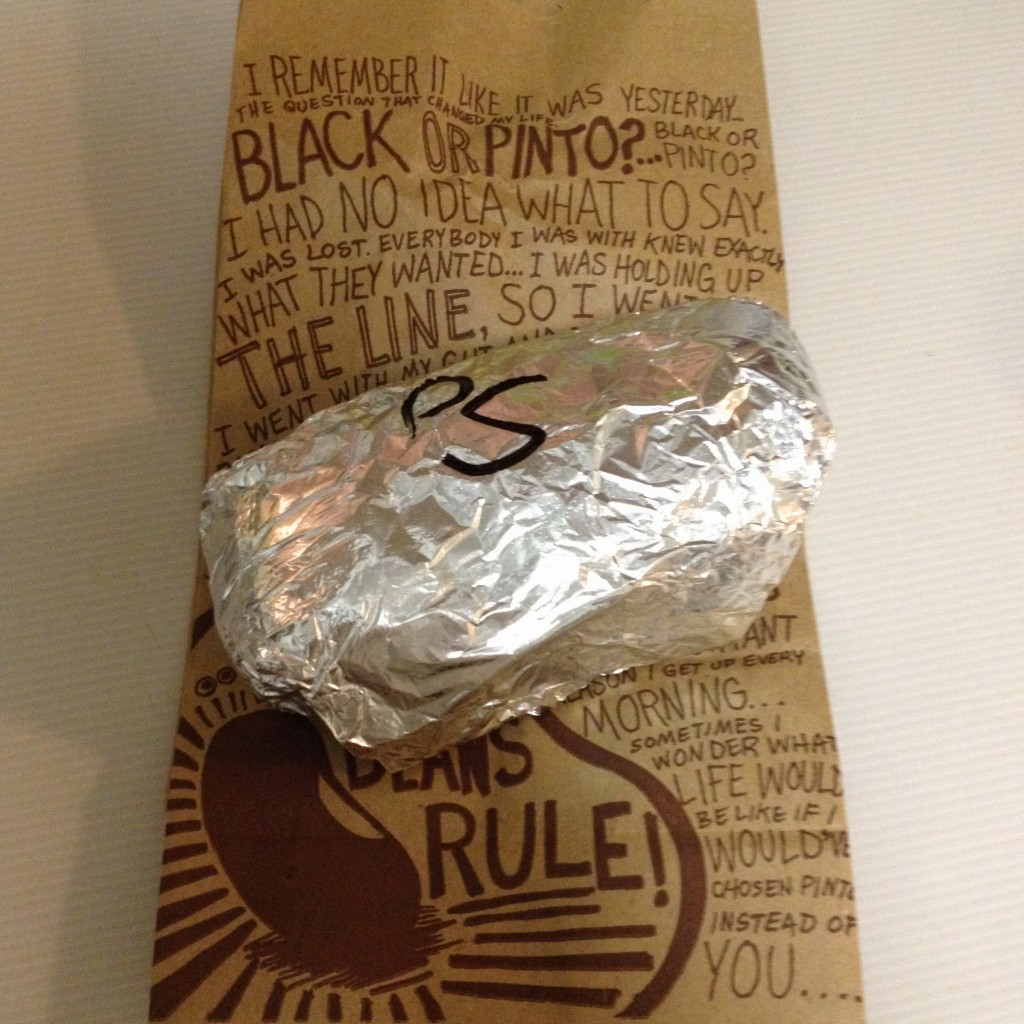 Chipotle burritos for the win!