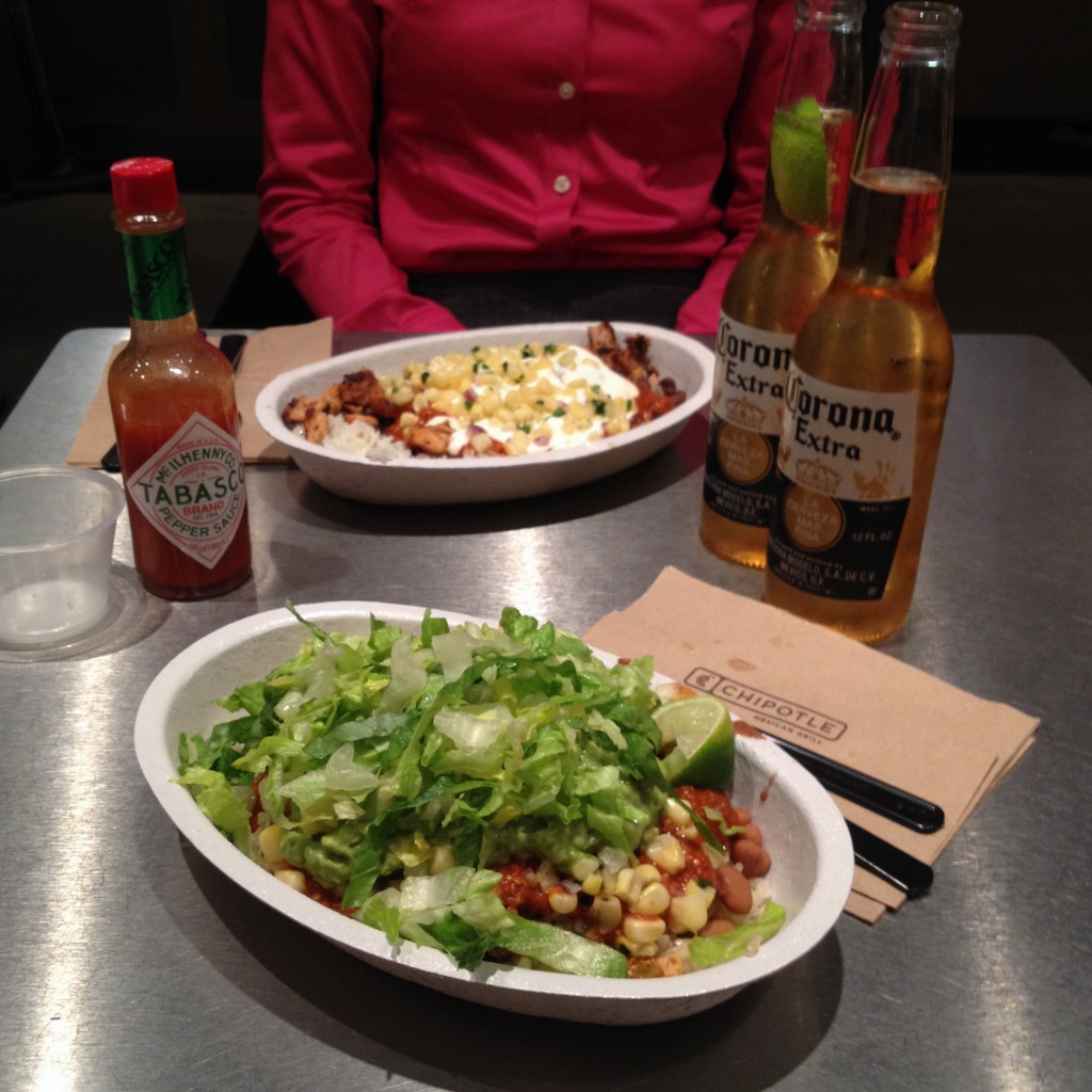 Chipotle burrito bowl with sofritas