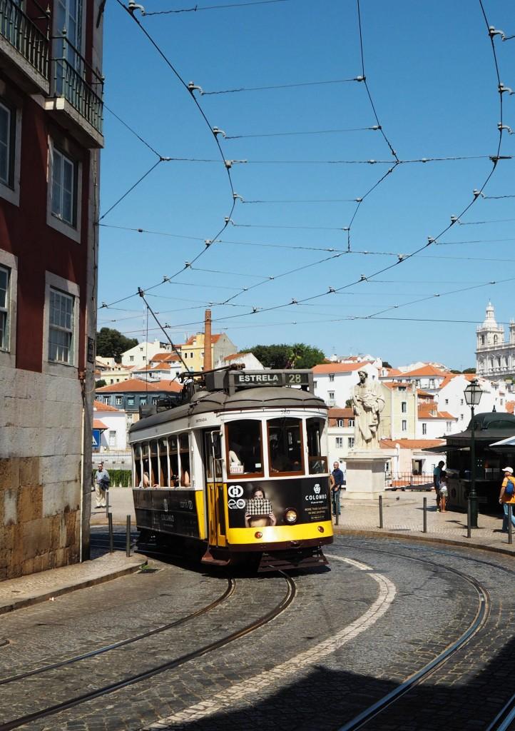 The famous tram No 28 Lisbon