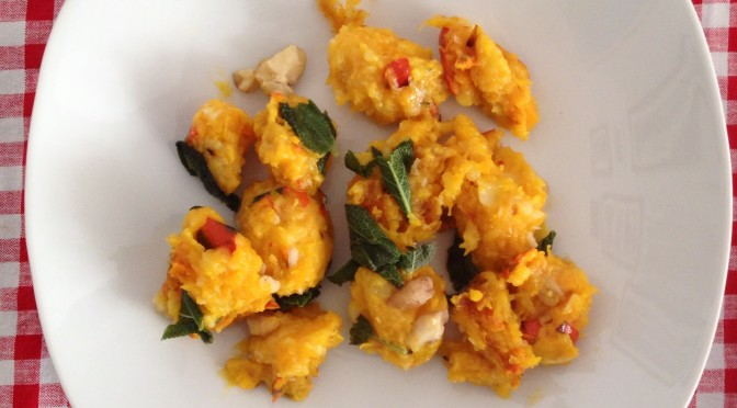 Aliciouslyvegan: Pumpkin gnocchi in sage butter