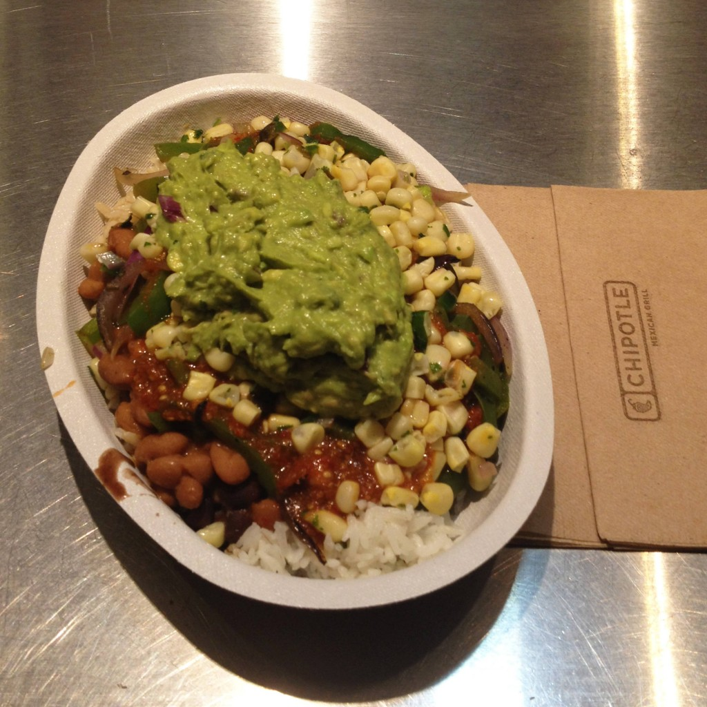 Veggie bowl at Chipotle