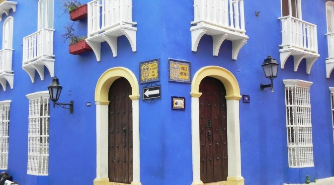 Colombia Cartagena house colourful