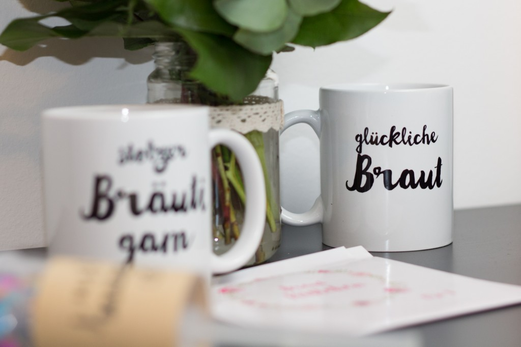 Brautkästchen - mugs