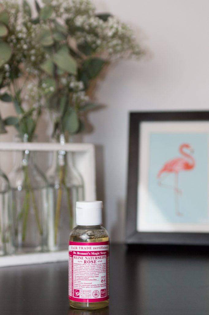 Dr. Bronner's soap liquid rose