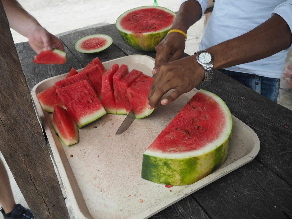 Colombia Ciudad Perdida trek watermelon