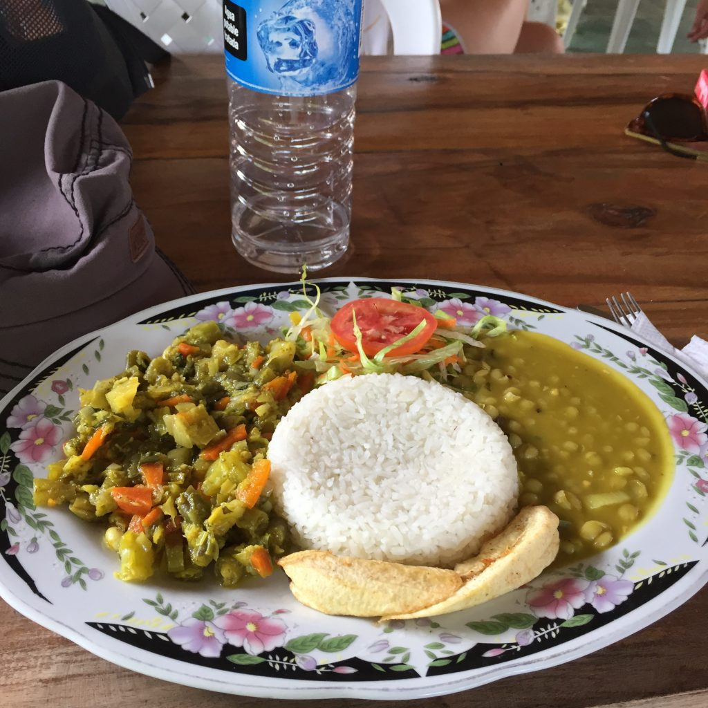Ciudad Perdida trek Colombia vegan food