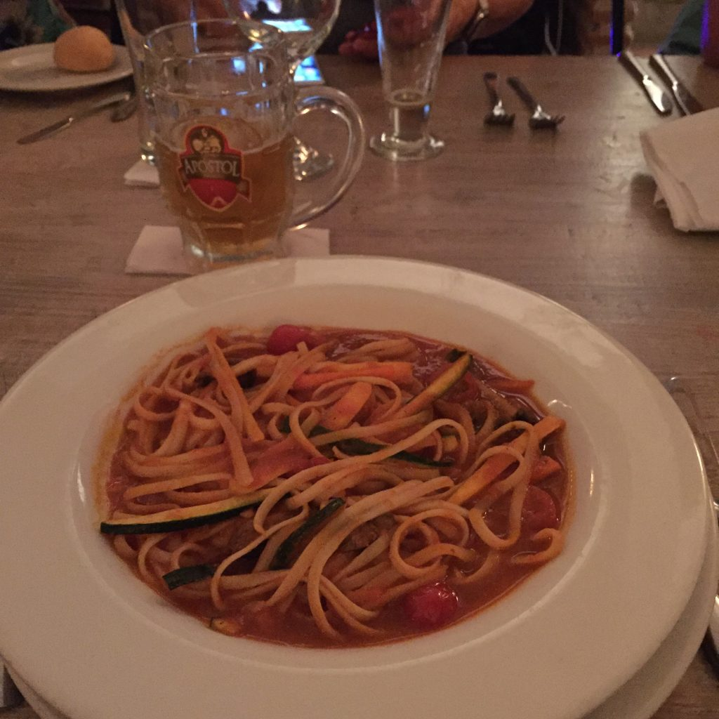 Spaghetti primavera at Monte Sacro