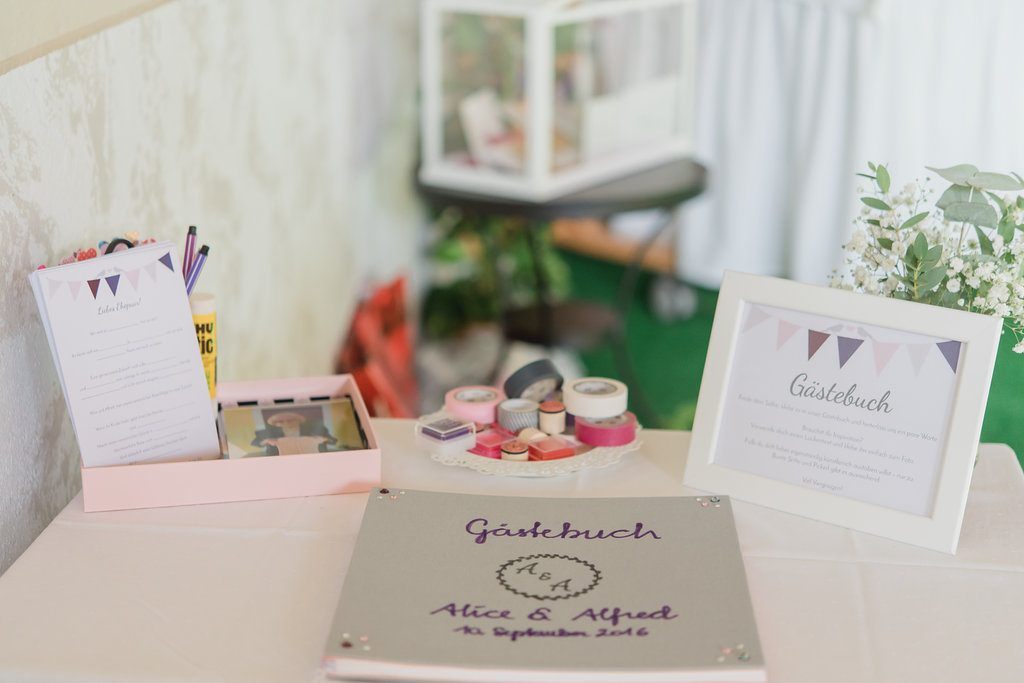 wedding guest book props